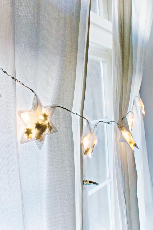 CHRISTMAS DIY | Star String Light Garland