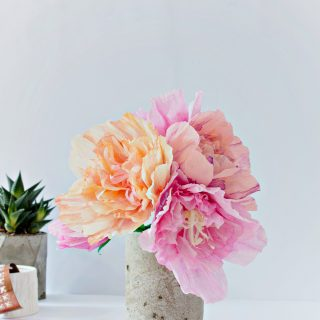 FEATURE | Paper Peonies & Concrete Vase