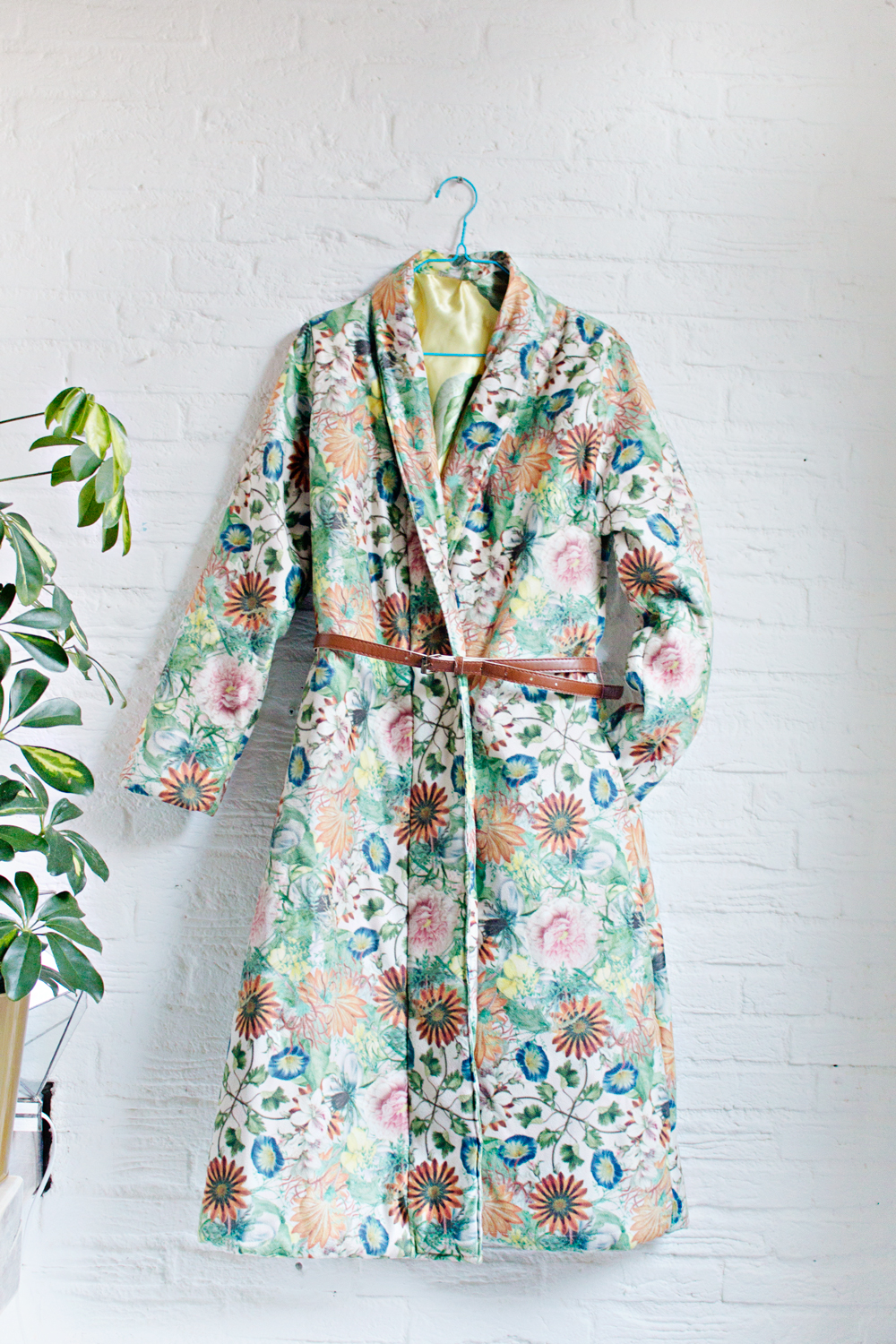 SEWING DIY | How to Make a Robe Coat in 30 Steps Without a Sewing Pattern