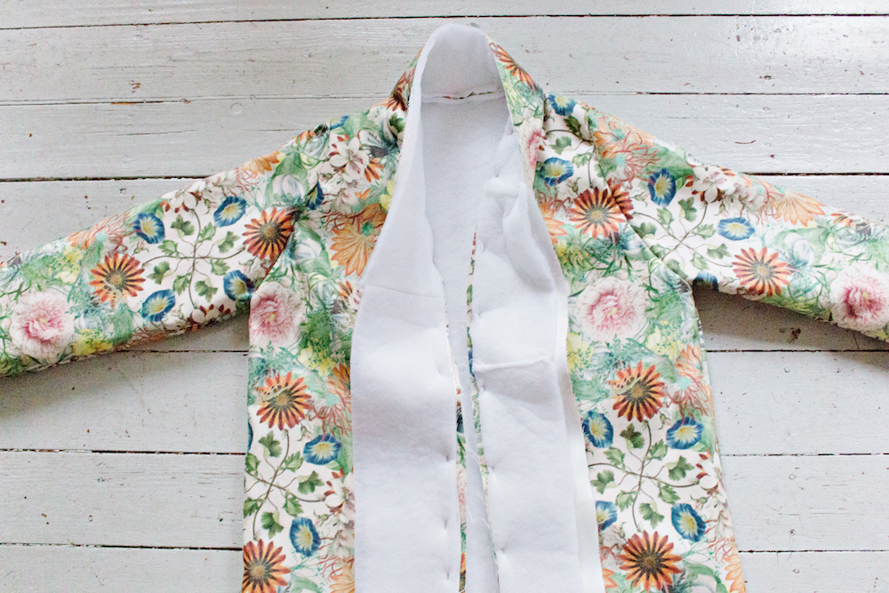 SEWING DIY | How to Make a Robe Coat in 30 Steps Without a Sewing Pattern 14