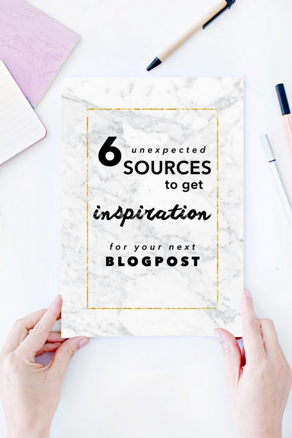 BLOGGING | 6 Sources to get Inspiration for your next Blog Post