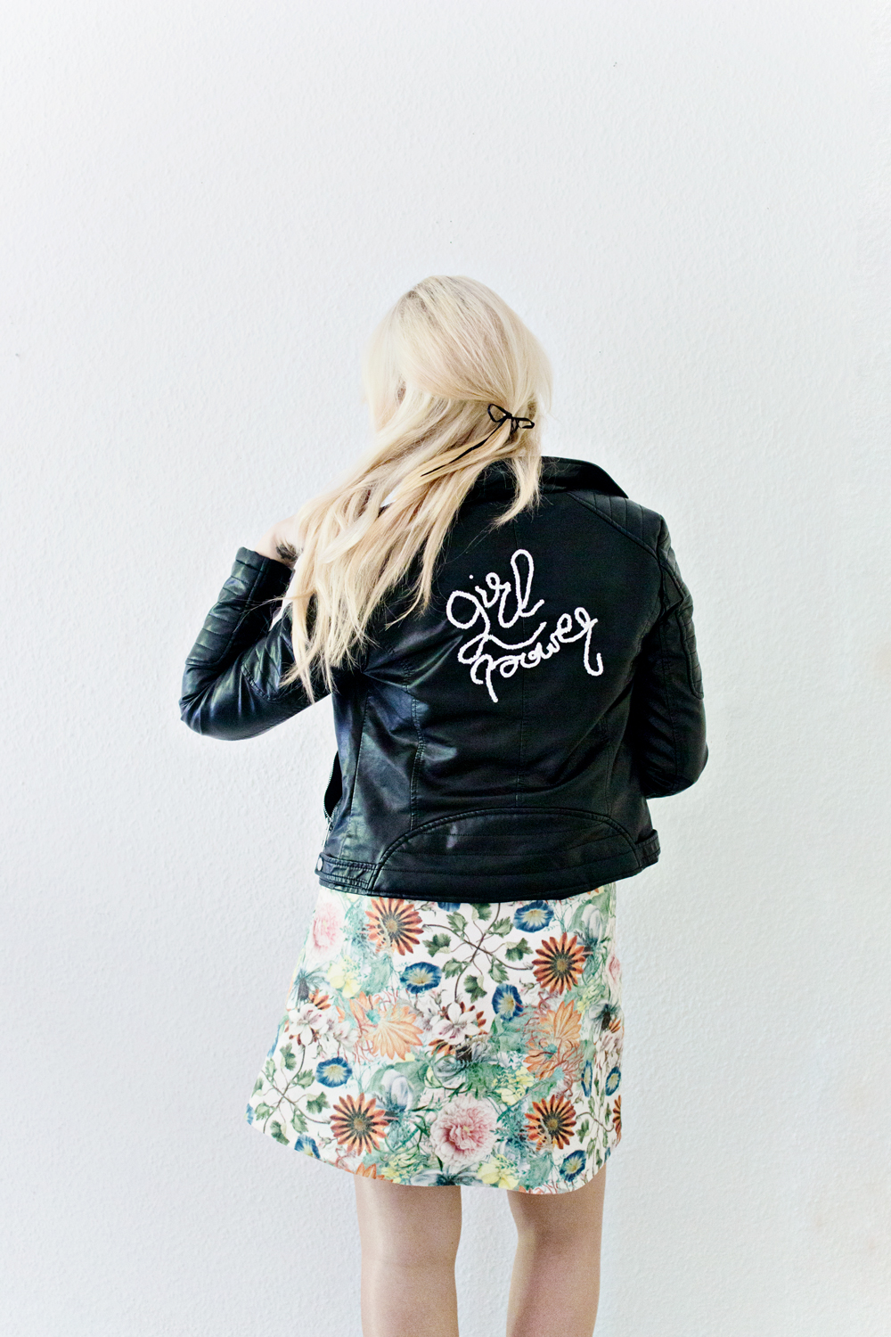 DIY | (faux) Leather Jacket - 3D Embroidery