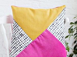 DIY | Color Block Print Cushion Cover