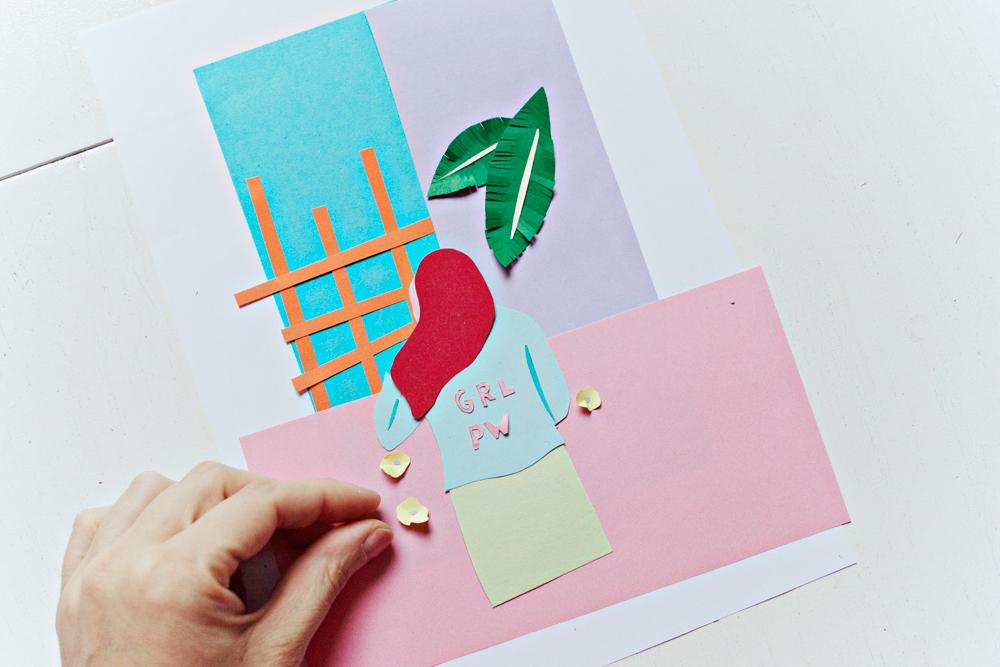 ART DIY | Handmade Collage Greeting Card