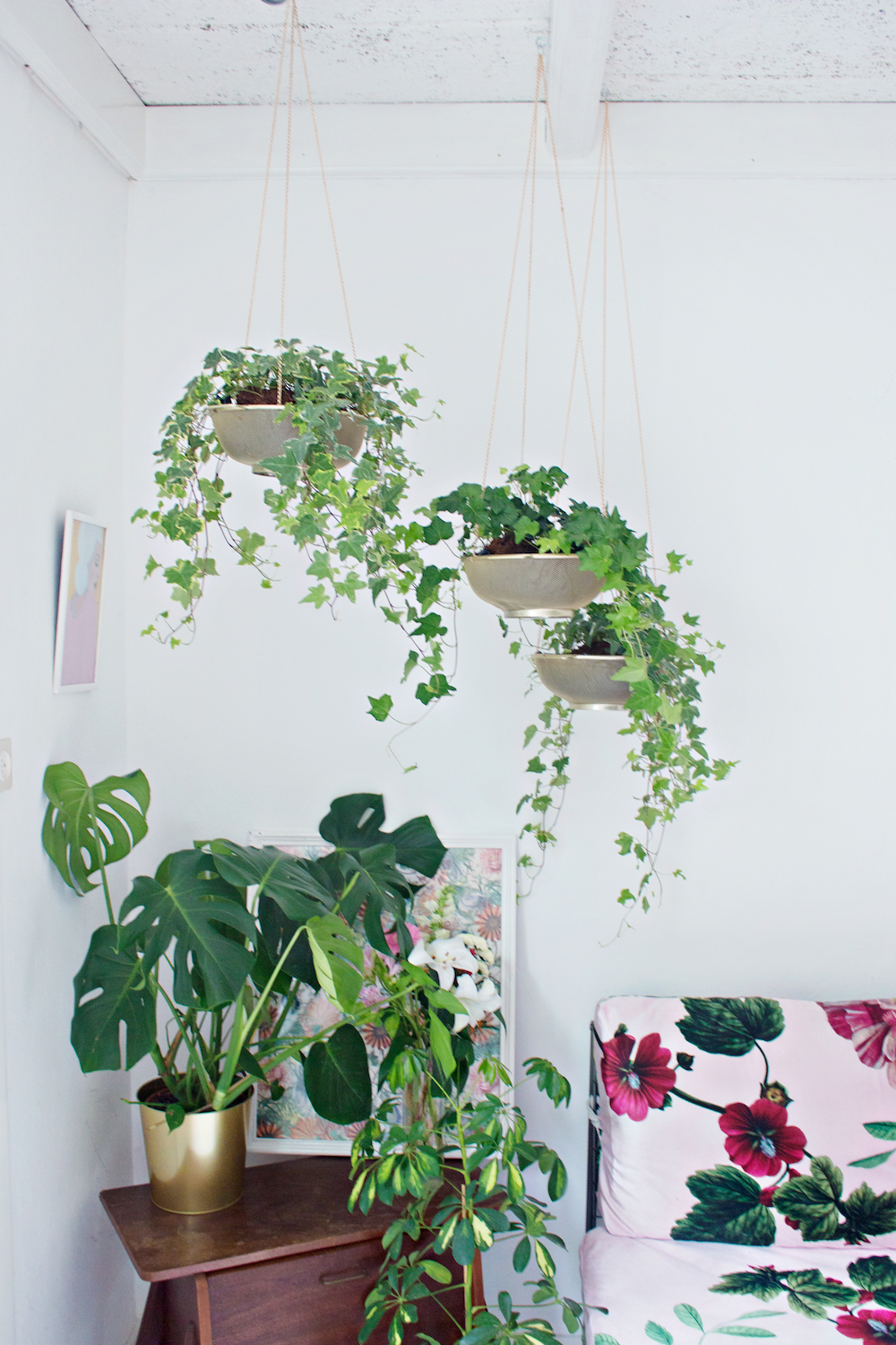 HANGING PLANT DIY | From Sifter to Planter