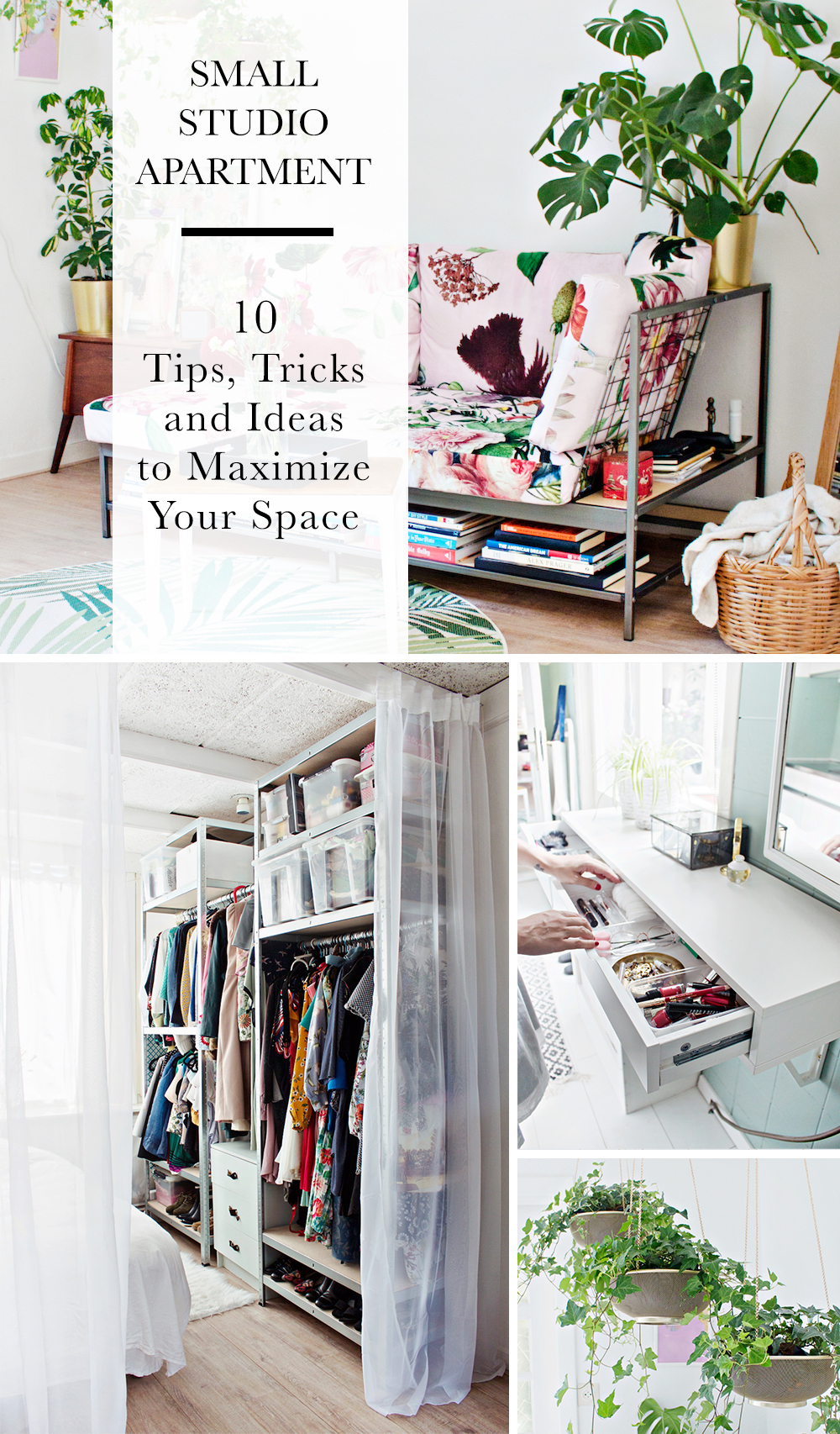 SMALL STUDIO APARTMENT | 10 Tips, Tricks and Ideas to Maximize Your Space