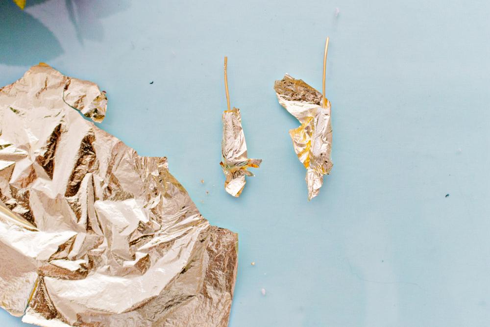 JEWELRY DIY | Gold Leaf Teardrop Earrings